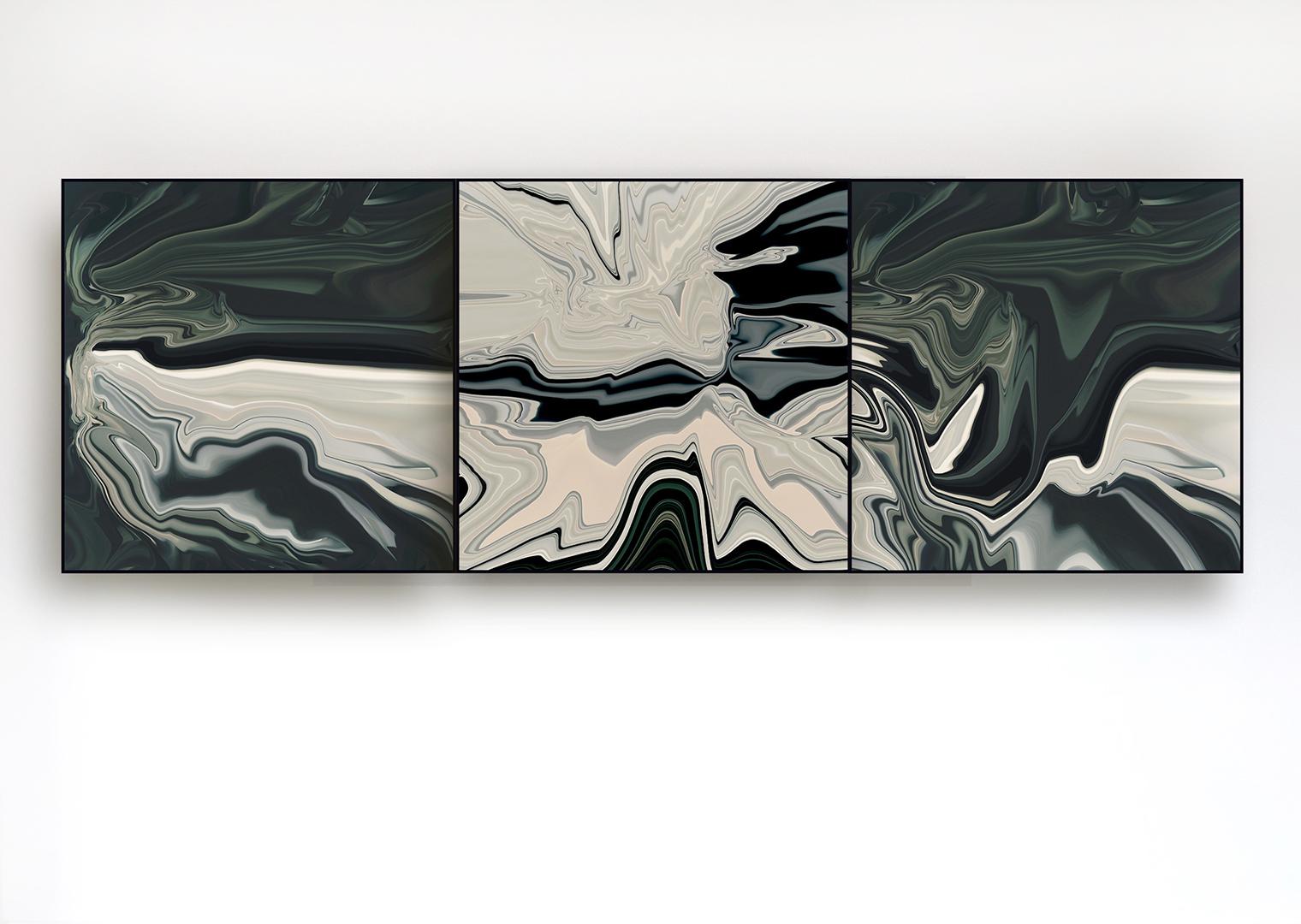 ABSTRACT_PORTRAITS_GRAY_FLUID_60x60_WAND_I_XIII_II